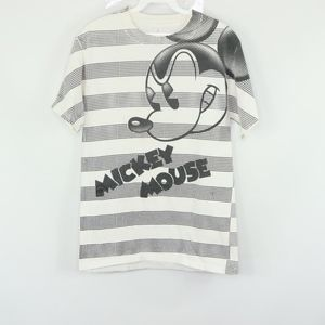 Walt Disney Mens Small Mickey Mouse Striped Shirt